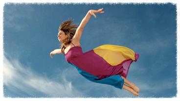 woman soaring